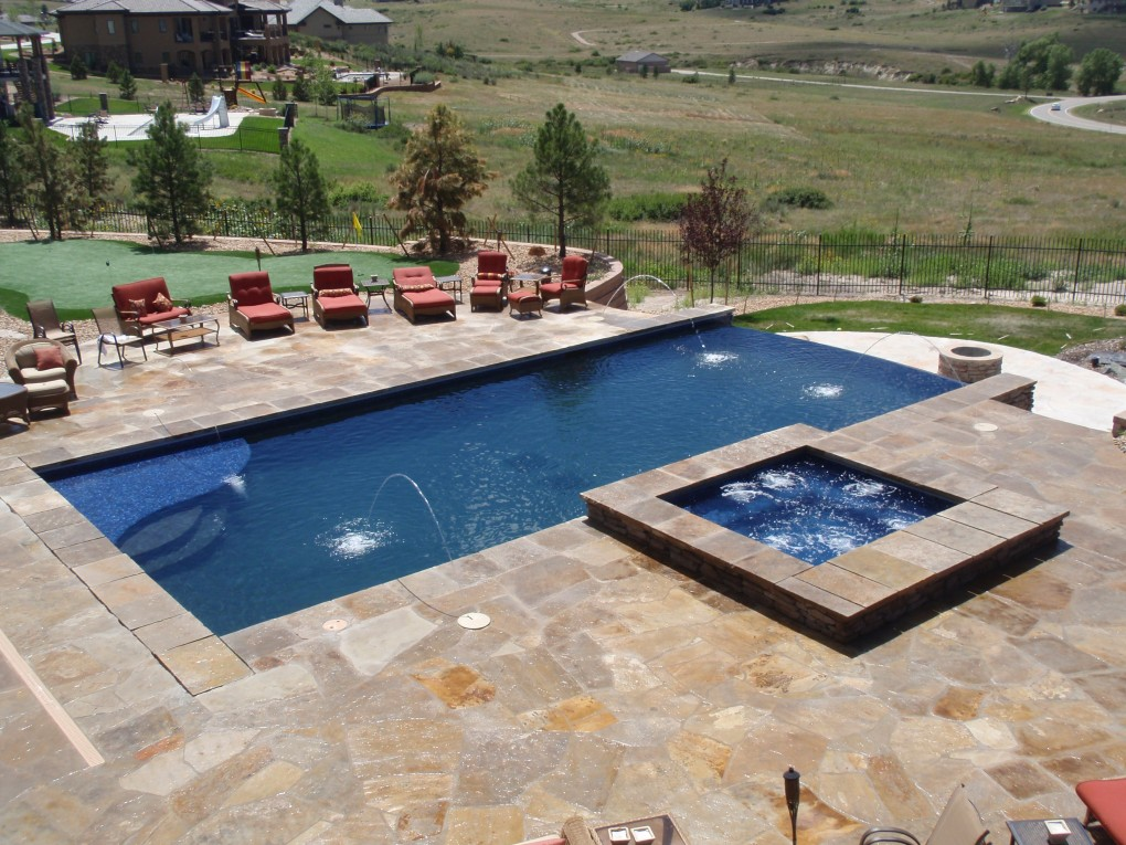 Pool and Spa Aerial View, Parker, CO