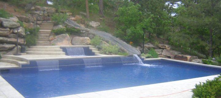 30' All Tiled Pool Slide, Castle Pines, CO