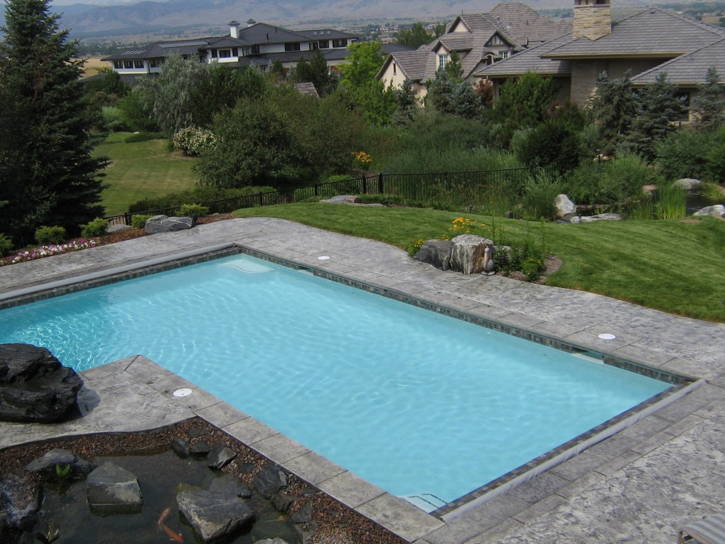 L Shaped Pool with Dual Auto Covers, Niwot, CO