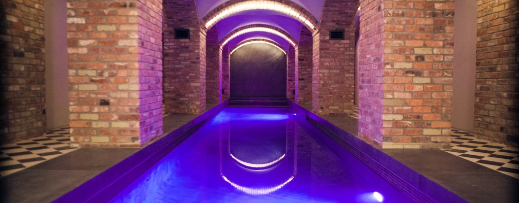Swimming Pool with Archways