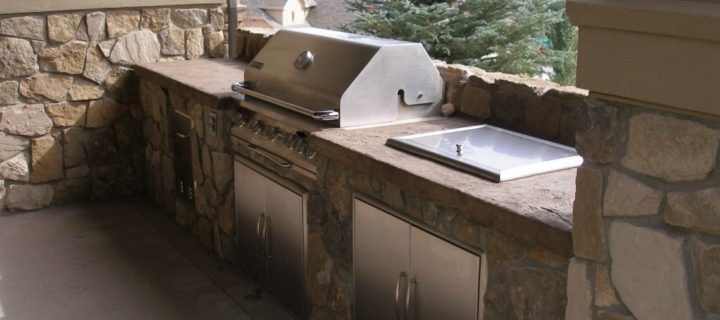 Stamped Concrete Counter Tops, Castle Rock, CO