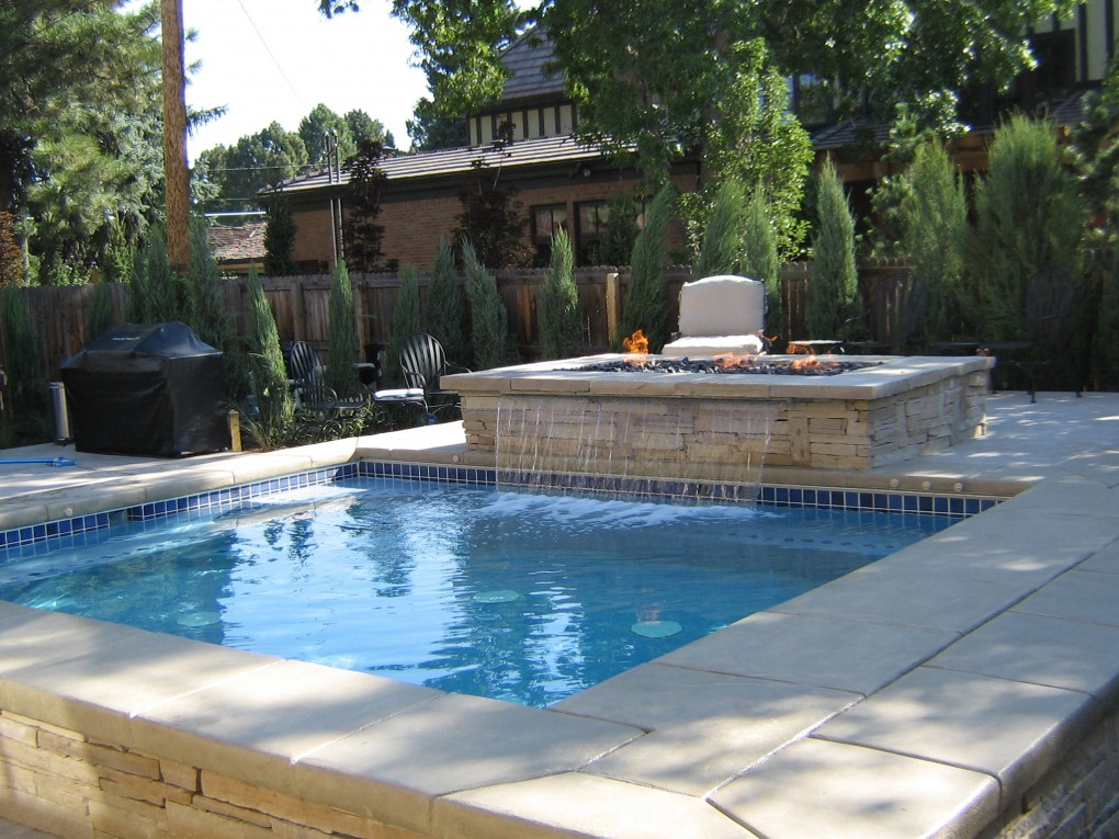 Water Feature and Fire Pit, Denver, Co