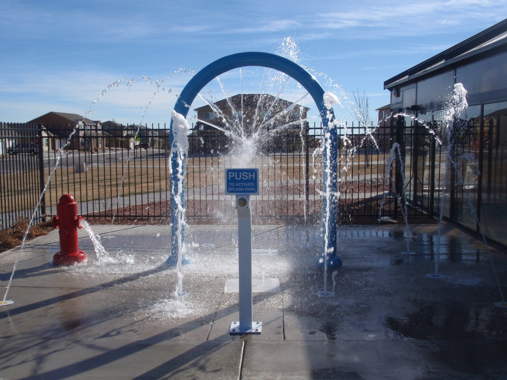 Splash Park at Shriever Air Force Base, Colorado Springs, CO