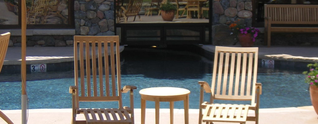 Indoor/Outdoor Pool at Devils Head Ranch, Fraiser, CO