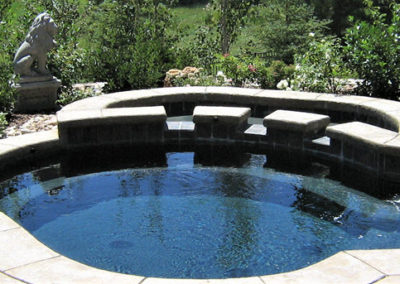 Custom Built Outdoor Spa With Water Feature