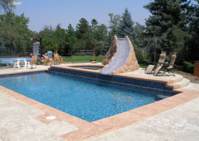 Custom Slide Pool & Spa Combo - Littleton, Colorado