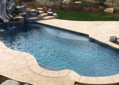 Custom Swimming Pool With Custom Slide -Castle Pines,  CO