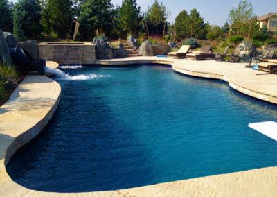 Custom Swimming Pool With Custom Spa