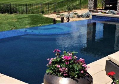 Infinity Edge Pool and Spa Combo Pradera Parker, Colorado