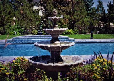 Beautiful Luxury Swimming Pool Spa Combo - Cherry Hills Village,  CO