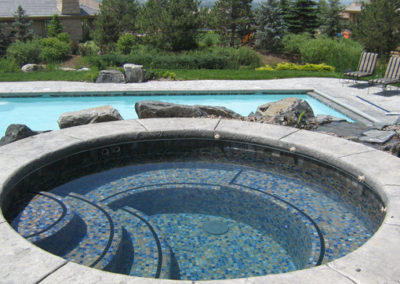 Pool With Raised All-tile Spa - Niwot,  CO