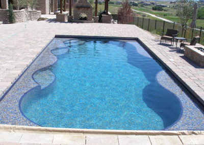 Pool in a Pool - All Tile With Autocover and Pavers