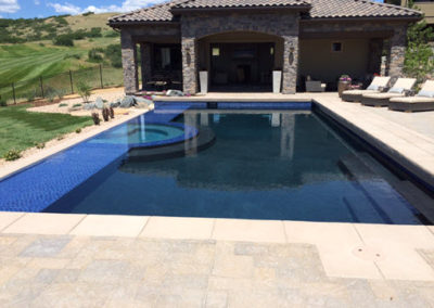 Vanishing Edge All-Tile Pool and Spa - Pradera - Parker,  CO