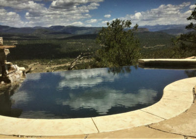 Vanishing Edge Black Plaster Swimming Pool - Durango,  CO